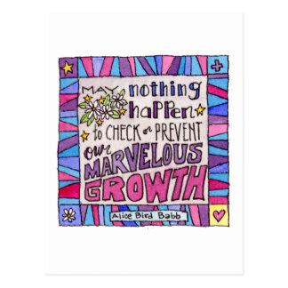 Cartão Postal Maio nada acontece impedir nosso crescimento