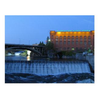 Cartão Postal Mais baixas quedas de Spokane,