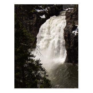 Cartão Postal Mais baixas quedas de Yellowstone