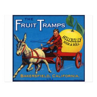 Cartão Postal Mais divertimento da caminhada da fruta