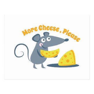 Cartão Postal Mais queijo, por favor