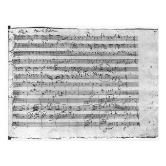Cartão Postal Major de G para o violino, o cravo e o violoncelo