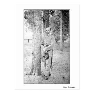 Cartão Postal Major Edmonds do confederado dos retratos da