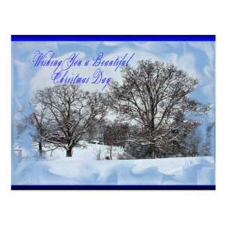 Cartão Postal Makara nevado Natal-personaliza