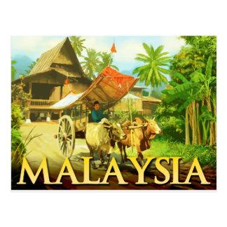 Cartão Postal Malaysia - carro de boi