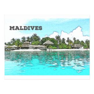 Cartão Postal Maldives