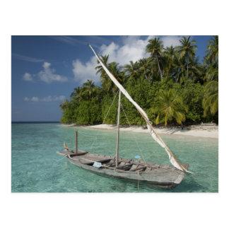 Cartão Postal Maldives, atol masculino norte, ilha de Kuda
