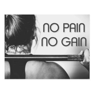Cartão Postal Malhação do Bodybuilding do Gym inspirador