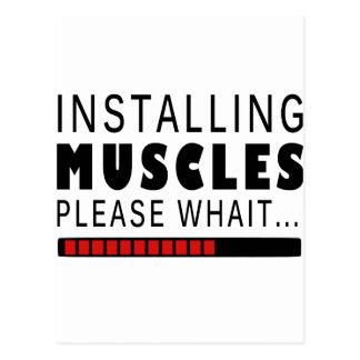 Cartão Postal Malhação e músculos do Gym