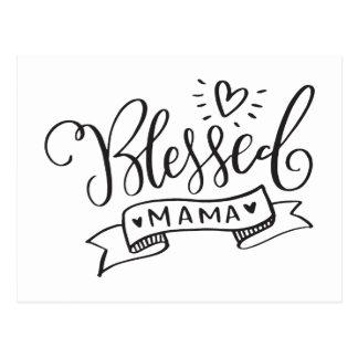 Cartão Postal Mama abençoado