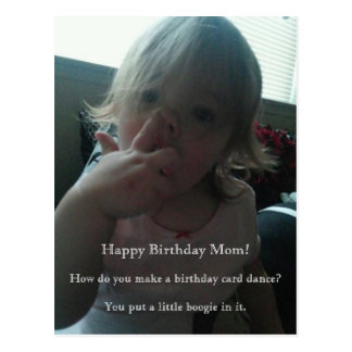 Cartão Postal Mamã do dançarino do feliz aniversario