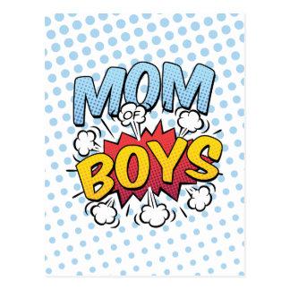 Cartão Postal Mamã do estilo da banda desenhada do dia das mães