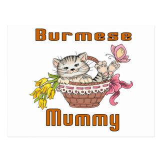Cartão Postal Mamã do gato Burmese