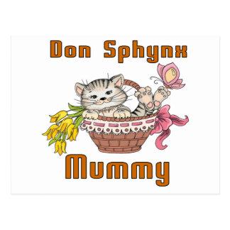 Cartão Postal Mamã do gato de Don Sphynx