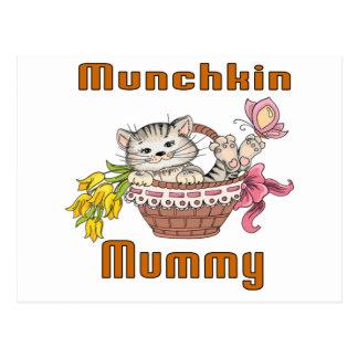 Cartão Postal Mamã do gato de Munchkin