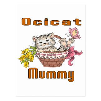 Cartão Postal Mamã do gato de Ocicat