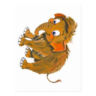 Cartão Postal Mammoth do bebê