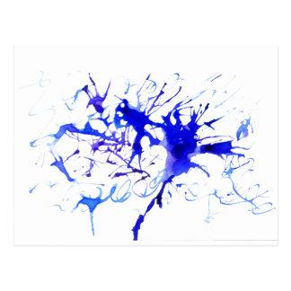 Cartão Postal Mancha da tinta azul