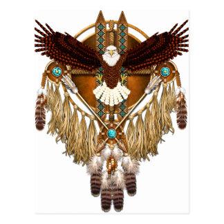 Cartão Postal Mandala da águia americana - revisada