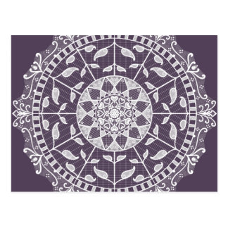 Cartão Postal Mandala da ameixa