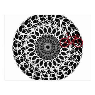 Cartão Postal Mandala da bicicleta da trilha
