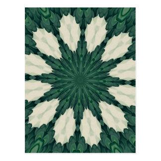 Cartão Postal Mandala. da folha verde e de prata de Sacramento