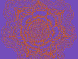 Cartão Postal Mandala da laranja da lavanda 383d4c169f5