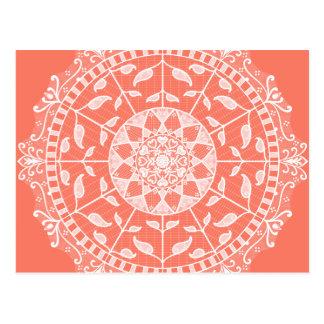 Cartão Postal Mandala da papaia