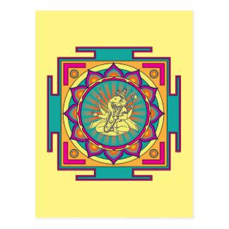 Cartão Postal Mandala de Ganesha