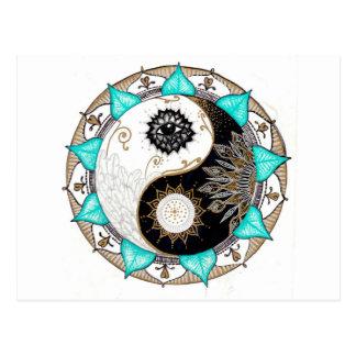 Cartão Postal Mandala de Yin Yang