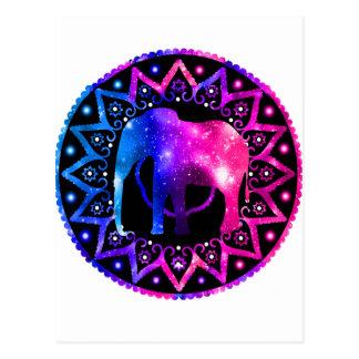Cartão Postal Mandala do elefante