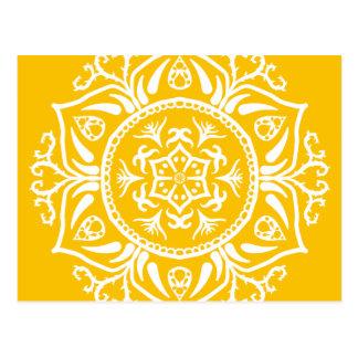 Cartão Postal Mandala do mel