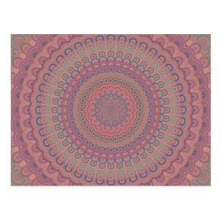 Cartão Postal Mandala do oval de Boho