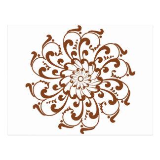 Cartão Postal Mandala do redemoinho do Henna