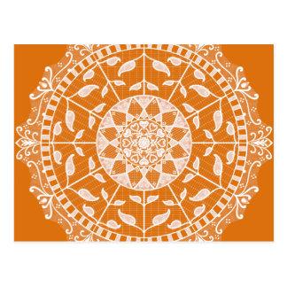 Cartão Postal Mandala do tarte de abóbora