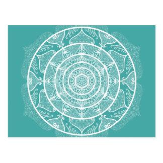 Cartão Postal Mandala Spruce azul