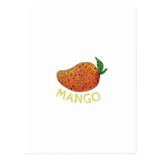 Cartão Postal Mandala suculenta da fruta da manga