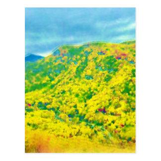 Cartão Postal Maneira acima das montanhas