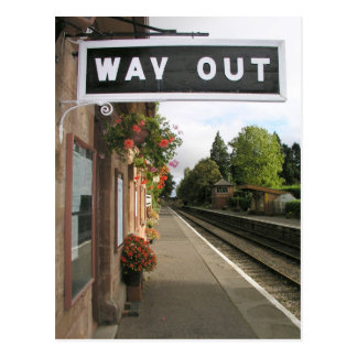 Cartão Postal Maneira para fora, estação Somerset de Crowcombe