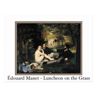 Cartão Postal Manet - almoço na grama