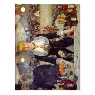 Cartão Postal Manet, bar de Edouard na Folies-Icebergue do