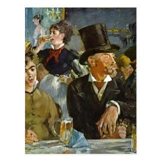 Cartão Postal Manet, Edouard Im Caf? - othe 1878 da técnica do