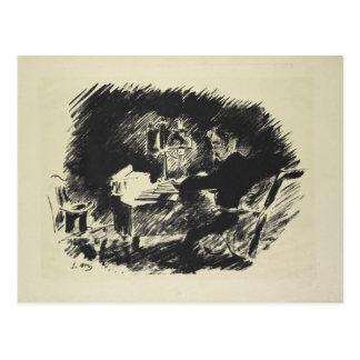Cartão Postal Manet | Le Corbeau, 1875