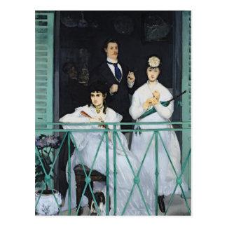 Cartão Postal Manet   o balcão, 1868-9