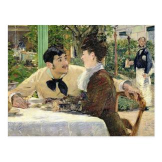 Cartão Postal Manet | o jardim de Pere Lathuille, 1879