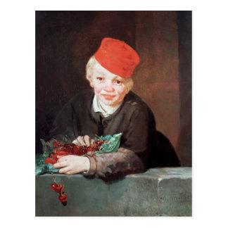 Cartão Postal Manet | o menino com as cerejas, 1859