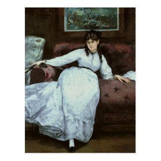 Cartão Postal Manet   o resto, retrato de Berthe Morisot