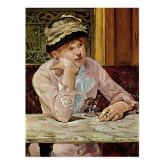 Cartão Postal Manet, técnica 1878 de Edouard Pflaume um C. 1878?