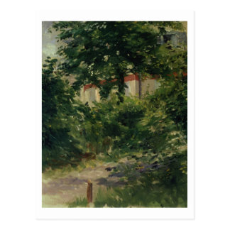 Cartão Postal Manet | um canto do jardim em Rueil, 1882