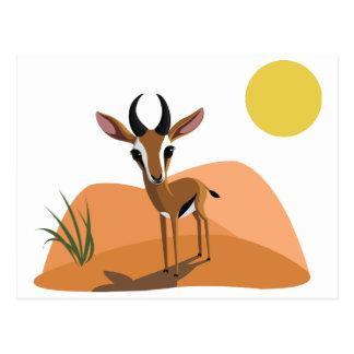 Cartão Postal Manga a gazela